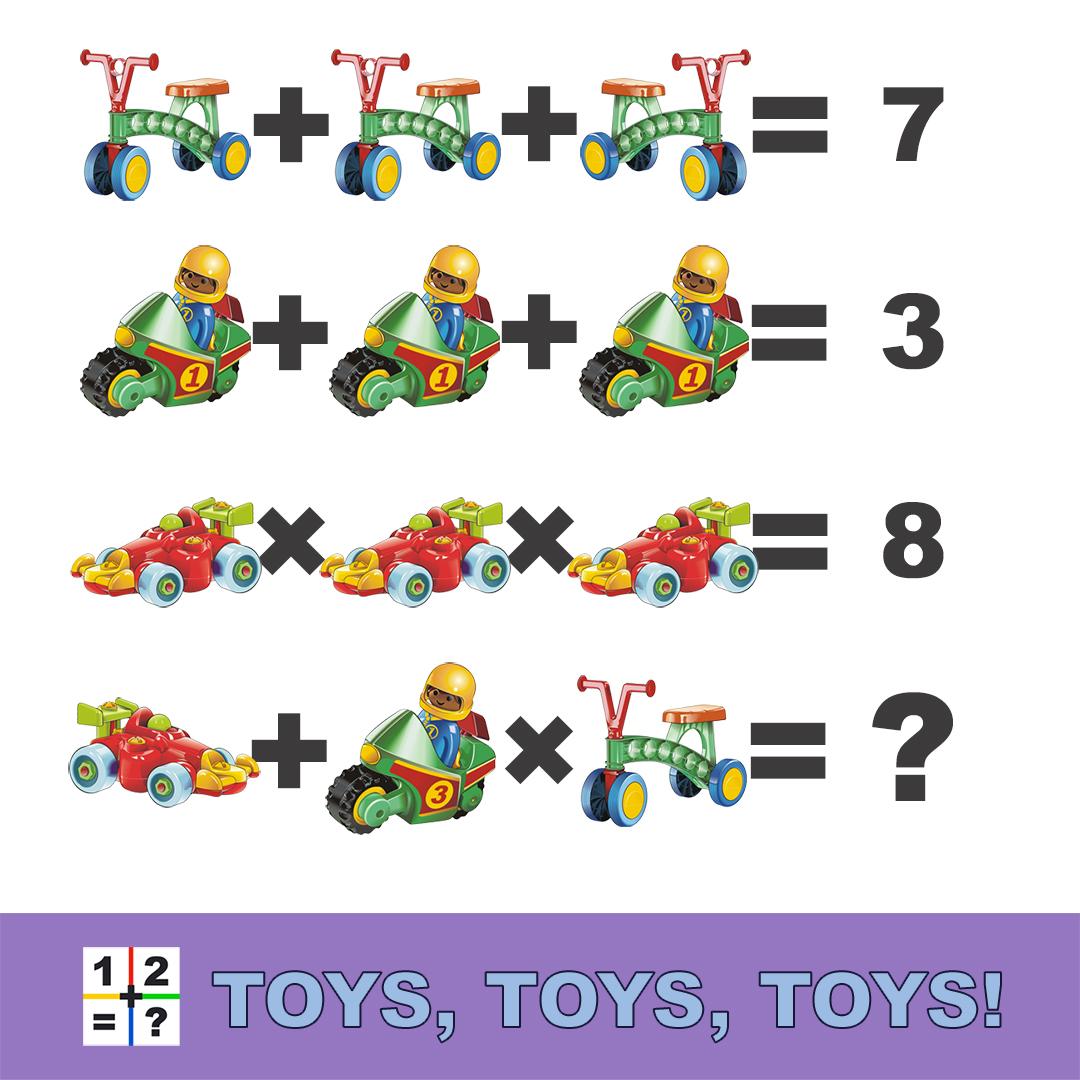 Toys, Toys, Toys math irddle explaner