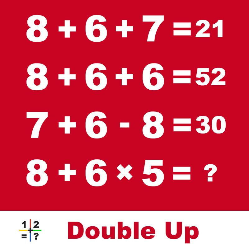 Double Up Math Puzzle Explained