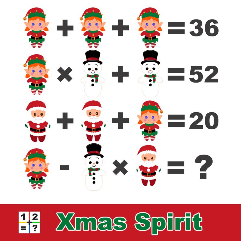 Xmas spirit math puzzle