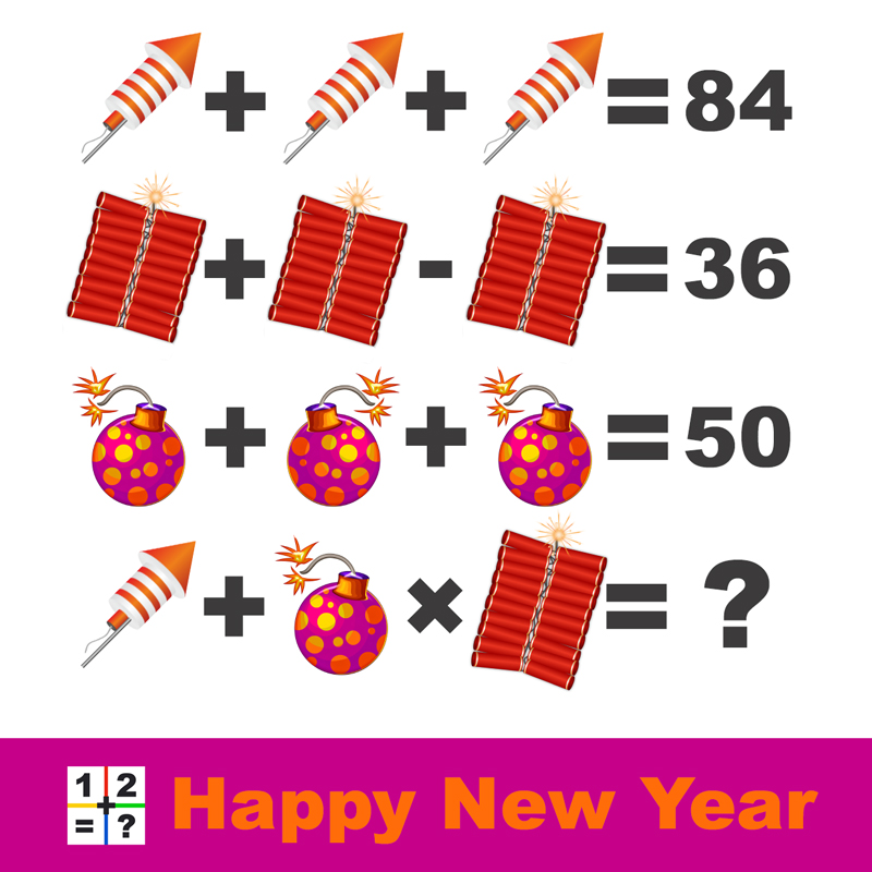 Happy new year logic riddle